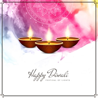 Happy diwali colorful religious background