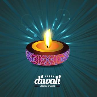 Happy diwali creative design