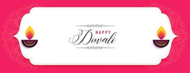 Happy diwali creative festival banner design