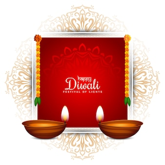 Happy diwali cultural festival awesome background