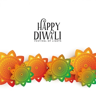 Happy diwali decorative festival colorful