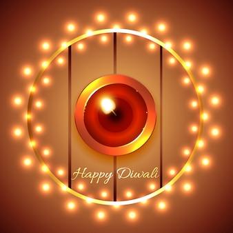Happy diwali diya background