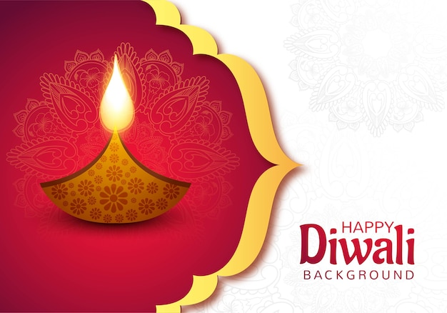 Happy diwali diya lamps holiday card celebration poster background
