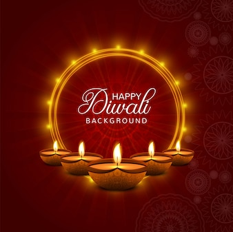 Diwali greeting card vectors photos and psd files free download happy diwali diya oil lamp festival card background m4hsunfo