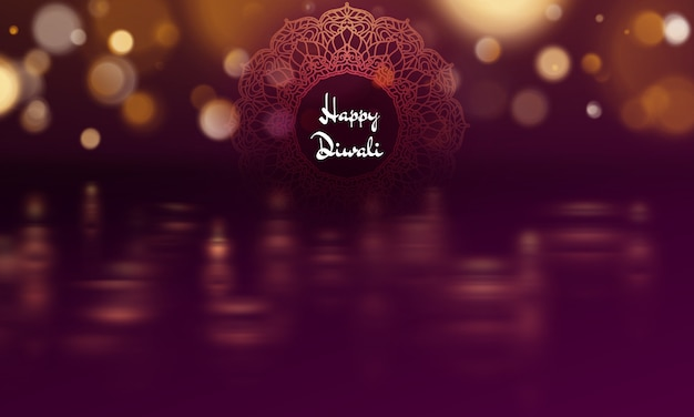 Happy diwali diya oil lamp template. indian deepavali hindu festival of lights.