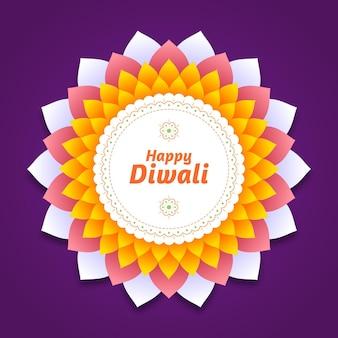 Happy diwali event flat design
