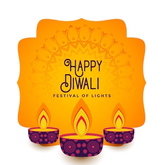 Happy diwali festival background