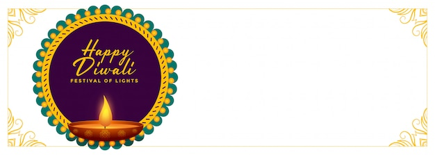 Happy diwali festival banner