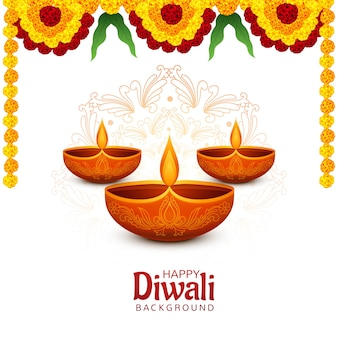 Happy diwali festival card background