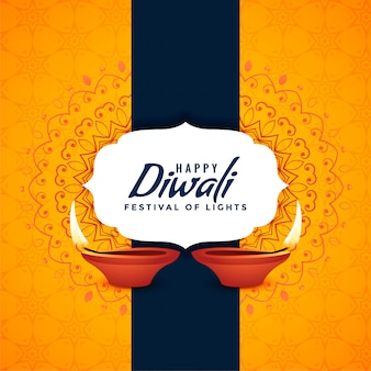 Happy diwali festival card creative