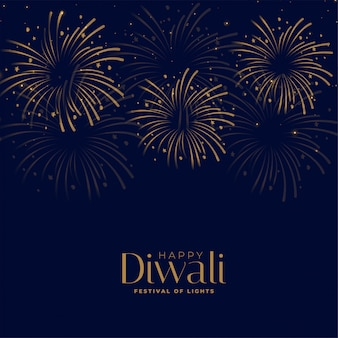 Happy diwali festival firework celebration