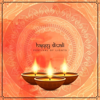 Happy diwali festival greeting card