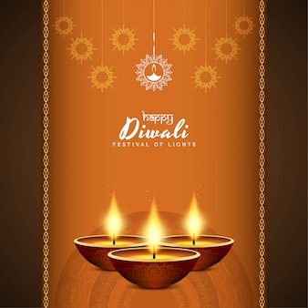 Happy diwali festival greeting elegant