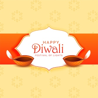 Happy diwali festival greeting illustration