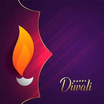 Happy diwali festival greeting with text space
