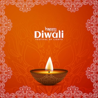 Happy diwali festival  illustration