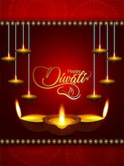 Happy diwali the festival of lights background