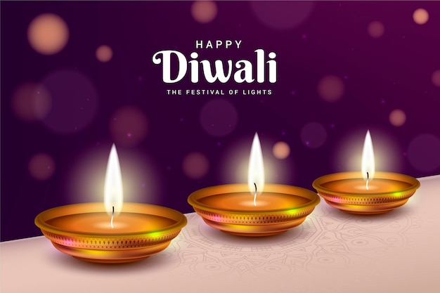 Happy diwali the festival of lights