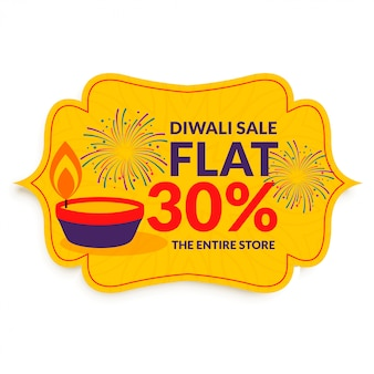 Happy diwali festival sale in flat style