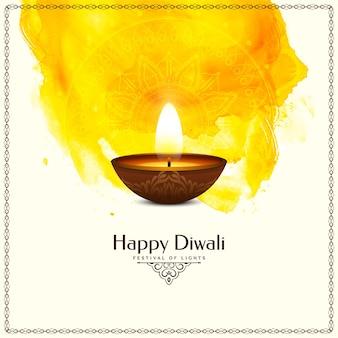 Felice diwali festival design tradizionale