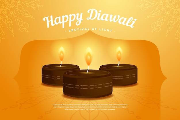 Happy diwali flat template design