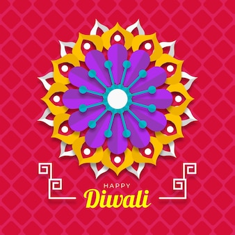 Happy diwali flower paper style