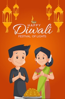 Happy diwali flyer and poster  template