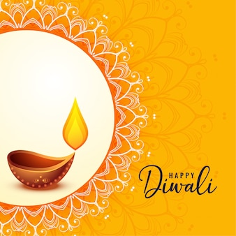 Happy diwali greeting banner beautiful design