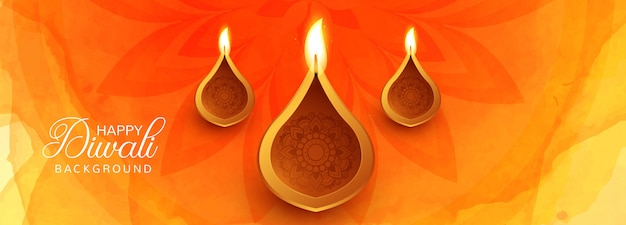 Happy diwali hindu festival card for banner