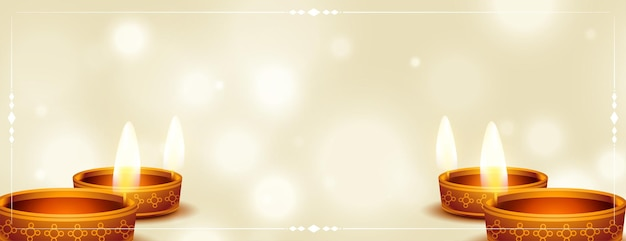 Felice diwali festival indù realistico banner design