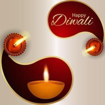 Happy diwali indian festival celebration background