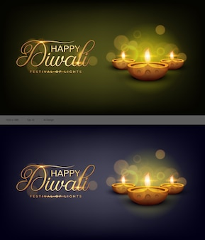 Happy diwali indian festival template