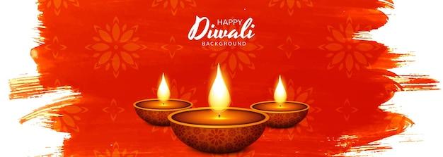 Fondo felice dell'insegna di celebrazione della lampada a olio di diwali