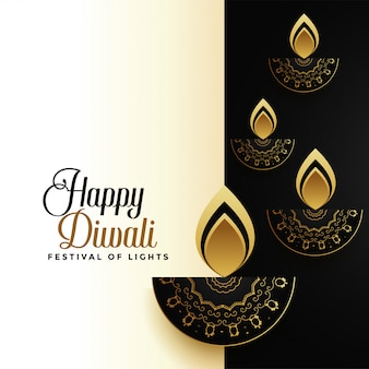 Happy diwali premium holiday greeting card