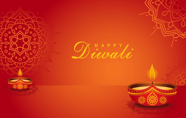 Happy diwali realistic background