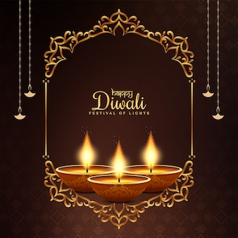 Happy diwali religious festival greeting background