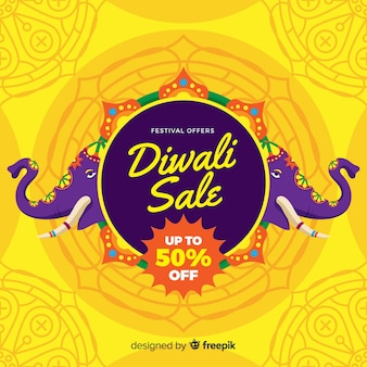 Happy diwali sale background