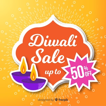 Happy diwali sale background