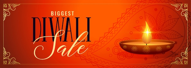Happy diwali sale and promotion decorative banner
