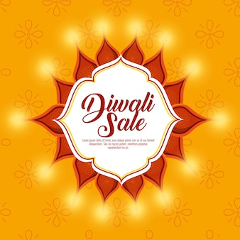 Happy diwali sale with mandala