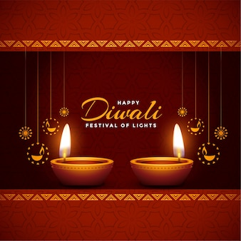 Happy diwali shiny festival celebration background design