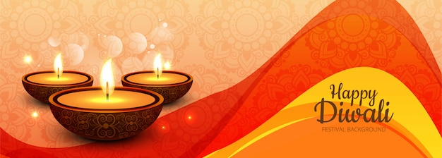 Happy diwali social media promotional banner