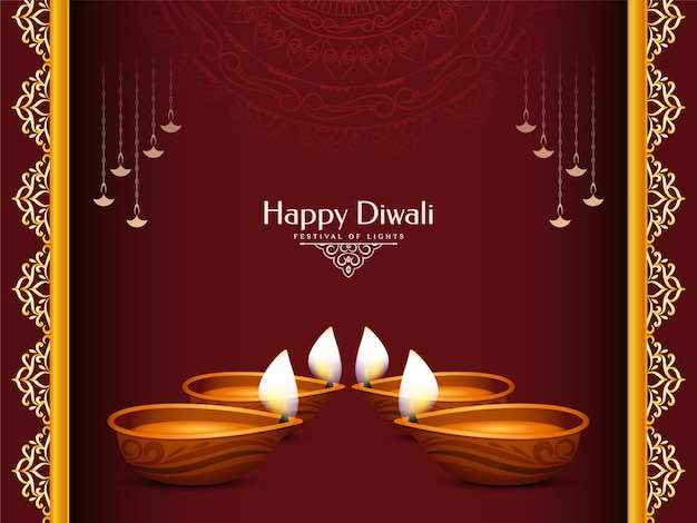 Happy diwali traditional indian festival background