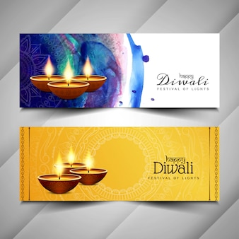 Абстрактные красивые баннеры happy diwali