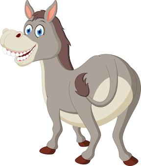 Happy donkey cartoon
