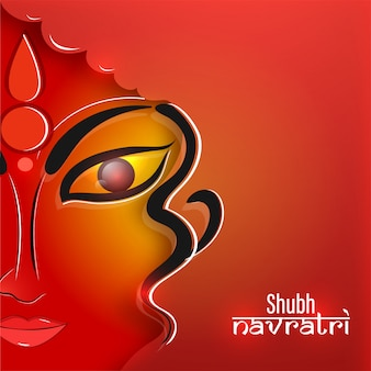 Happy durga ashtami background.