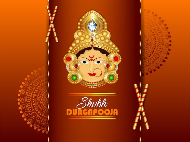 Happy durgapooja celebration design