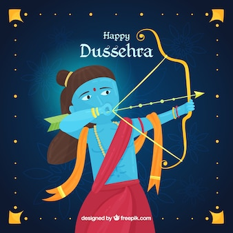 Happy dussehra background with archer