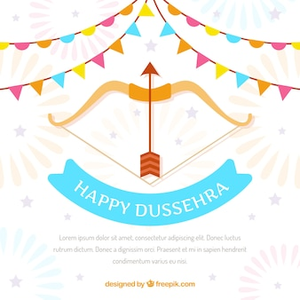 Happy dussehra background with bow