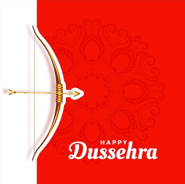 Happy dussehra beautiful red greeting
